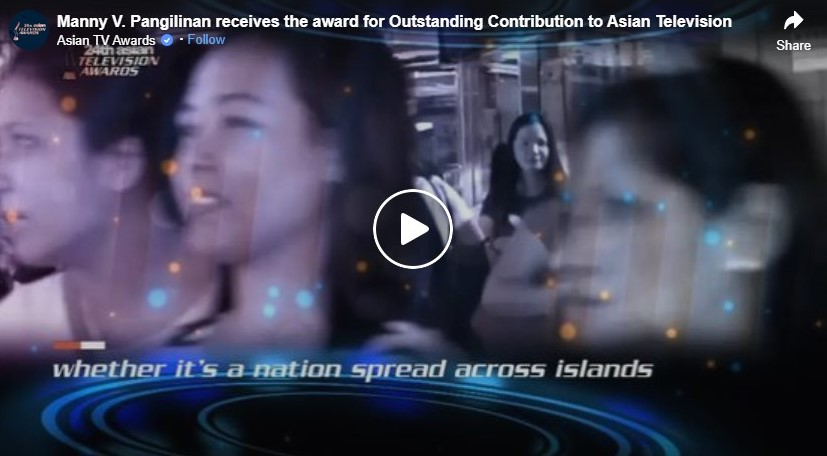 manny v pangilinan receives the award for outstanding contribution to asian television