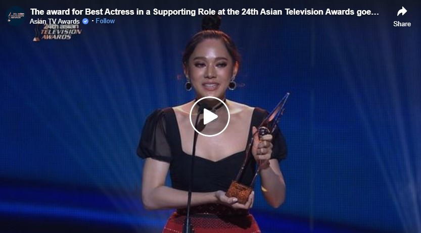 the award for best actress in a supporting role at the 24th asian television awards goes to anayarin terethananpat