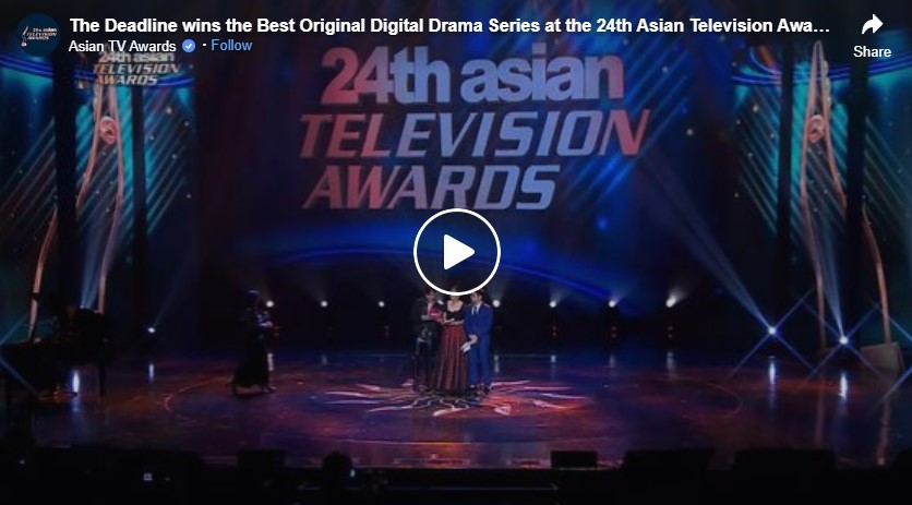 the deadline wins the best original digital drama series at the 24th asian television awards
