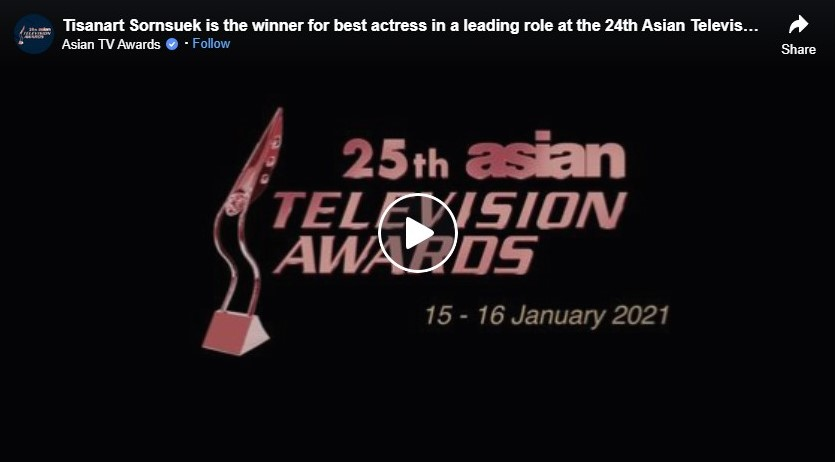 tisanart sornsuek is the winner for best actress in a leading role at the 24th asian television awards